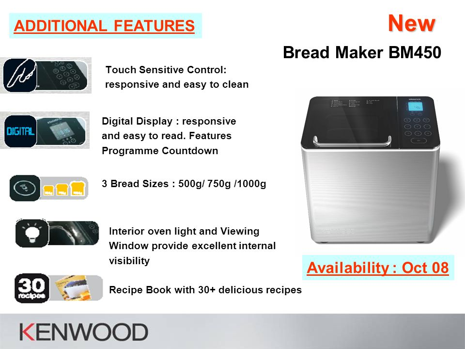 new the new bm450 from kenwood sell in pack bread maker bm rh slideplayer com Kenwood Mixer Kenwood Washing Machine