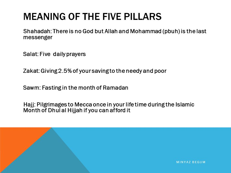religion of islam minyaz begum five pillars of islam 1 shahadah 2
