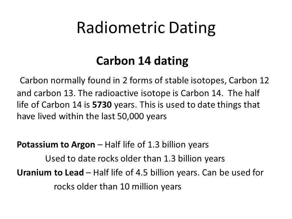 Radiometric dating forms