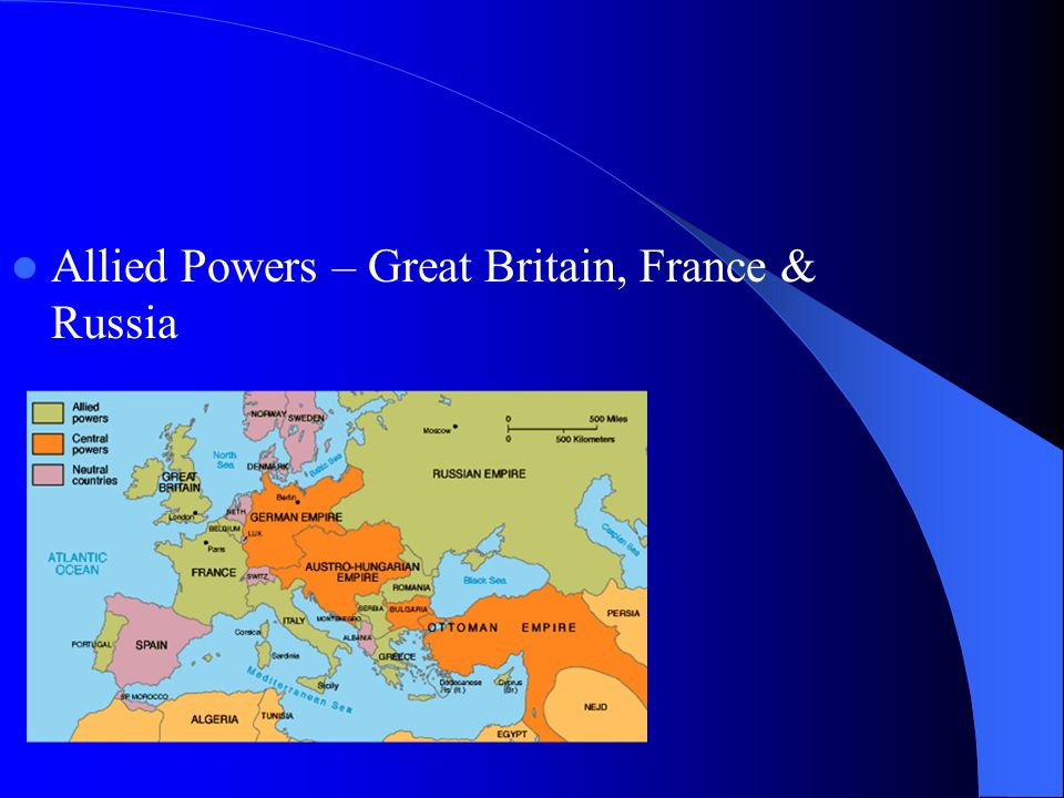 Allied Powers – Great Britain, France & Russia