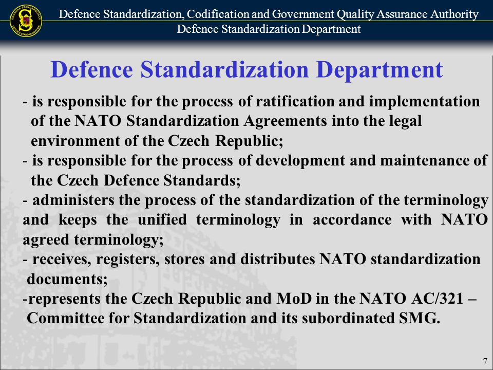Defence Standardization Codification And Government Quality
