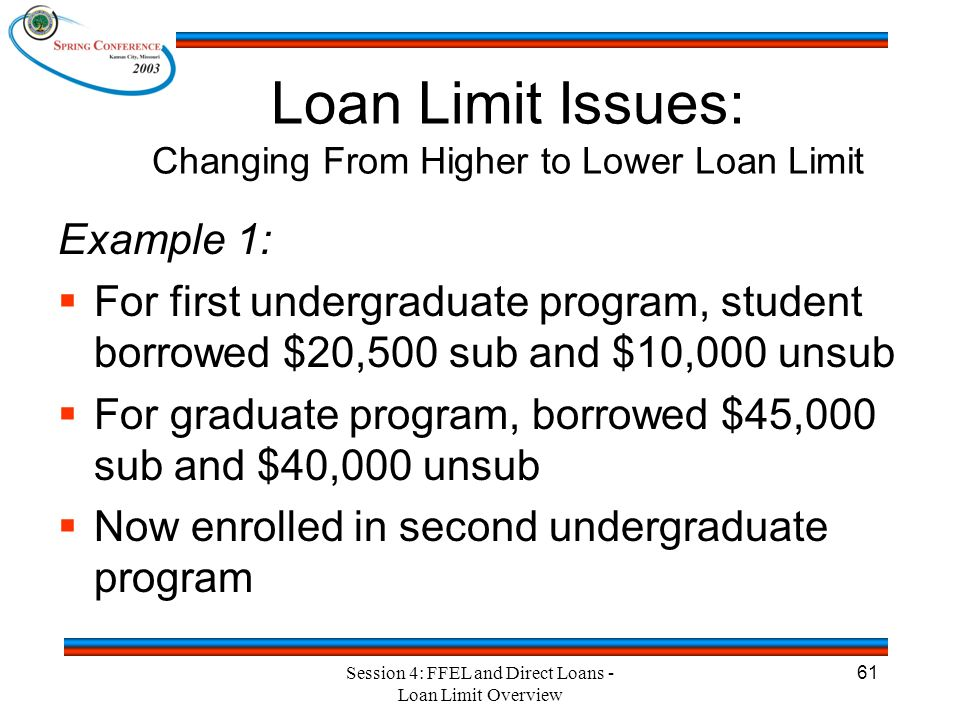 Session 4: FFEL and Direct Loans - Loan Limit Overview 2 Session 4 FFEL and Direct Loans: Loan Limit Overview. - ppt download - 웹