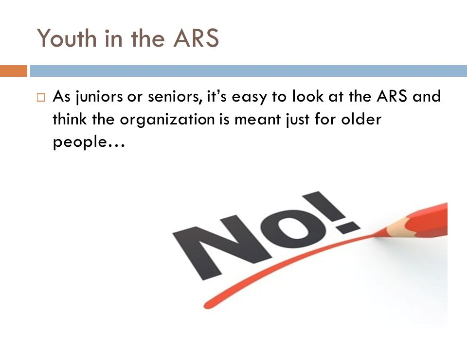 5 Youth In The Ars As Juniors Or Seniors It S Easy To Look At And Think Organization Is Meant Just For Older People