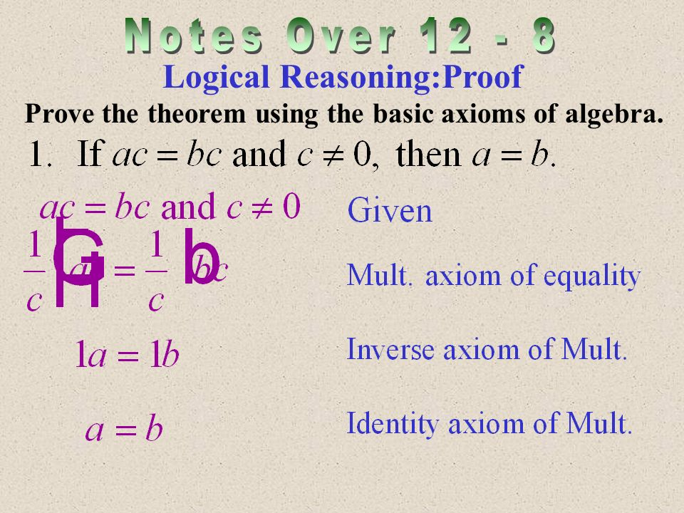 Logical Reasoning:Proof Prove the theorem using the basic