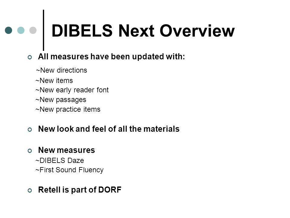 DIBELS Next FSF PSF LNF NWF DORF DAZE Objectives Introduce