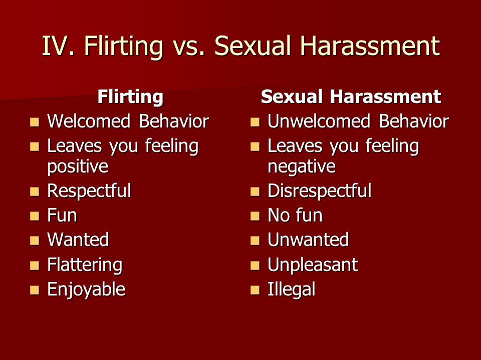 Flirting vs sexual harassment scenarios