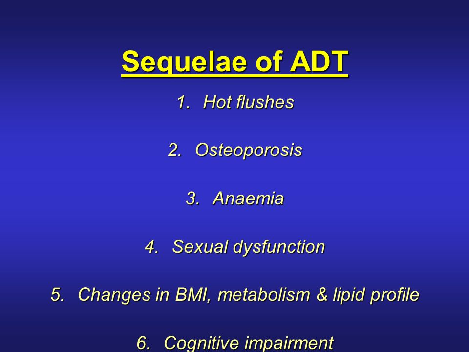 Symptoms of sexual deprivation