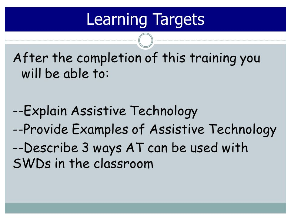 Assistive Technology for Paraprofessionals Gordon County