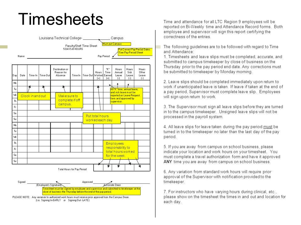time attendance procedure hr 001 reviews timekeeping