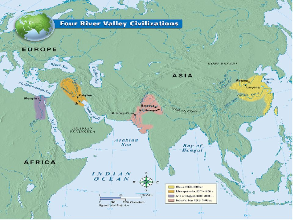 Early River Valley Civilizations Map Early River Valley Civilizations  Persian Gulf to Mediterranean