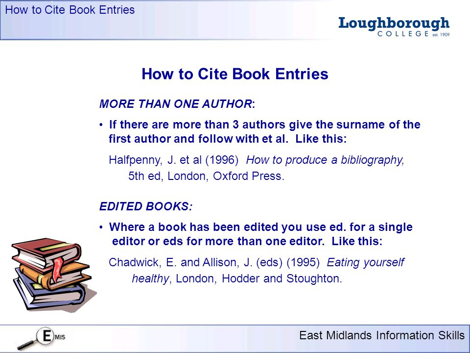 Presentation title here 18 pt arial east midlands information skills how to cite book entries presentation title here 18 pt arial east midlands information skills more than one author if ccuart Images