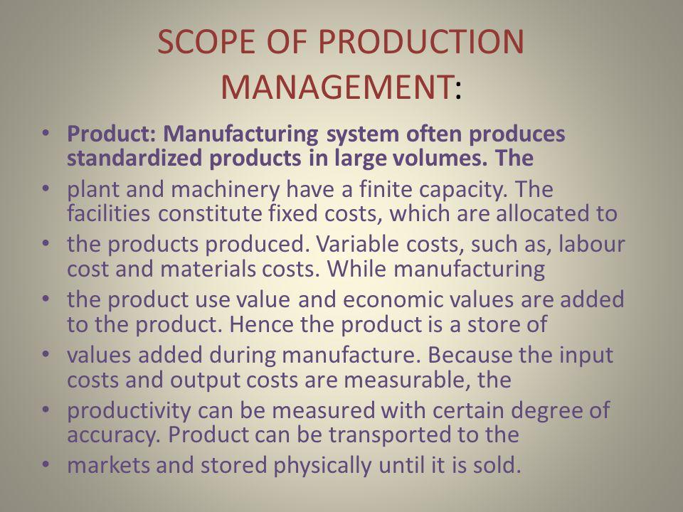 scope of production management