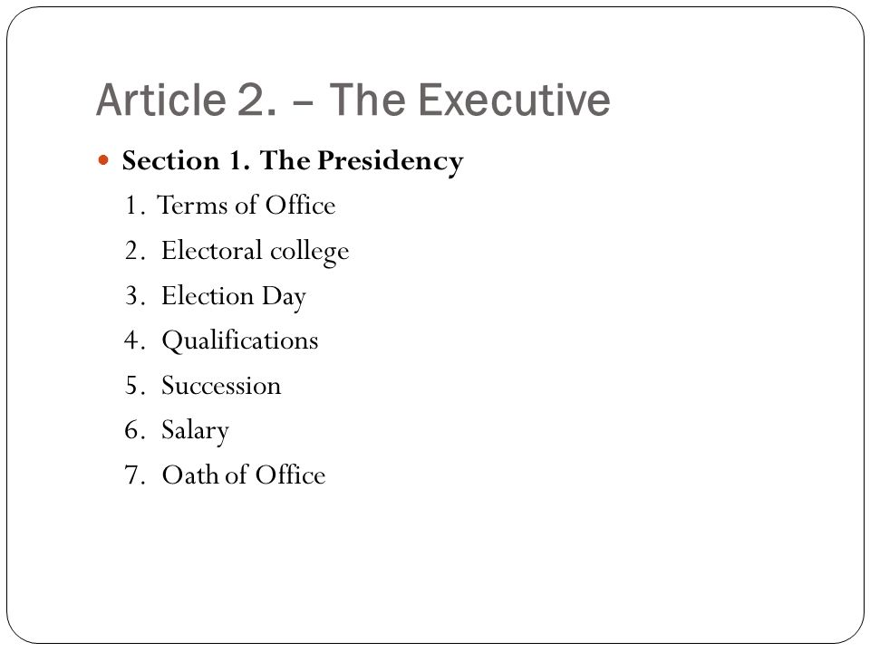 constitution article 2 section 1