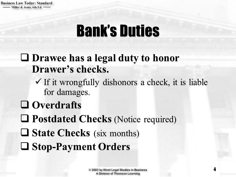 Postdating a check makes it non negotiable