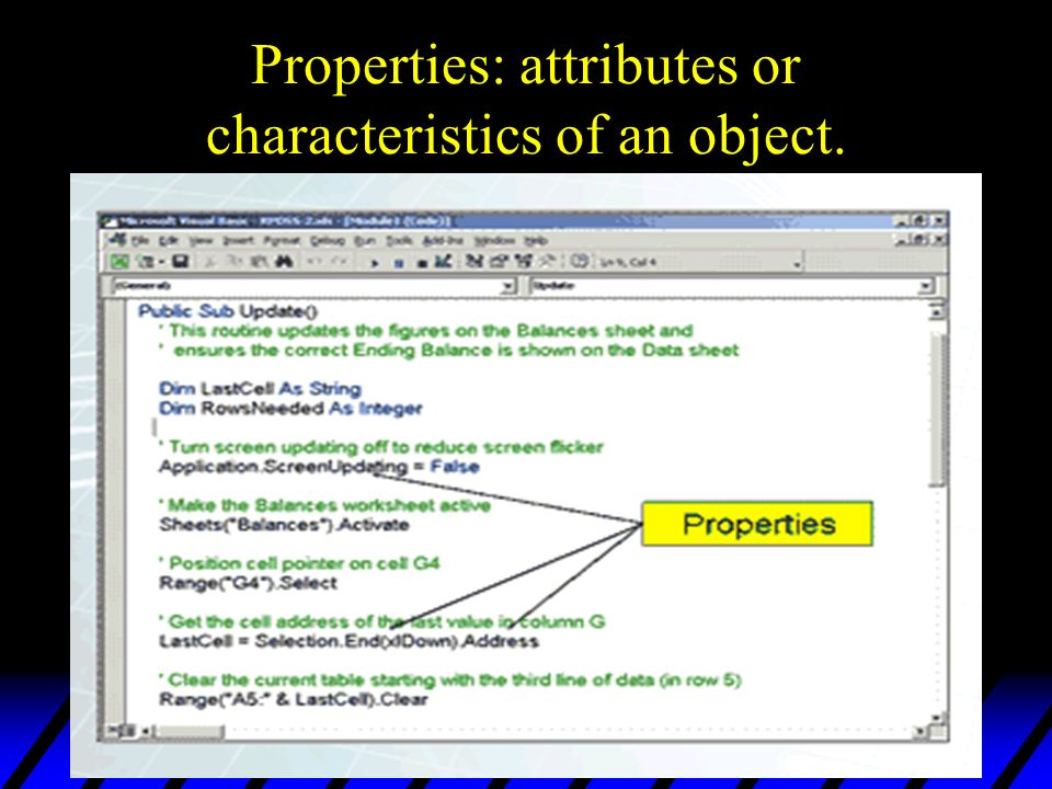 Overview of VBA Programming & Syntax  Programming With