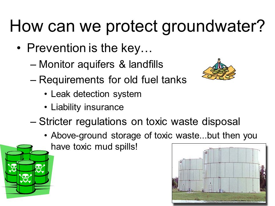 How can we protect groundwater.