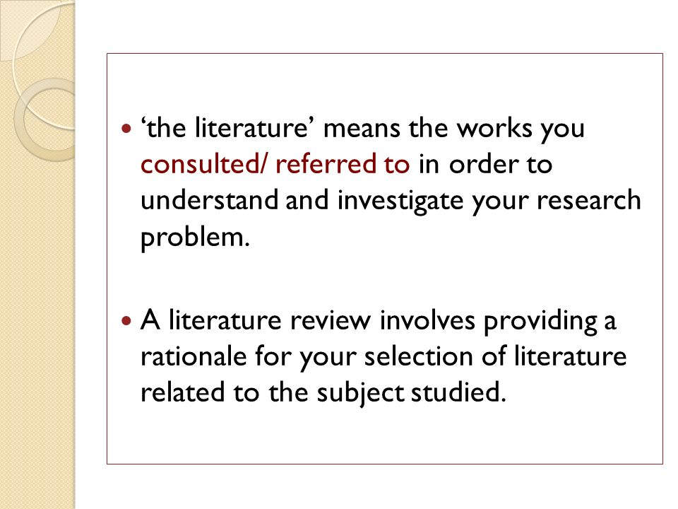 literature review example for research proposal
