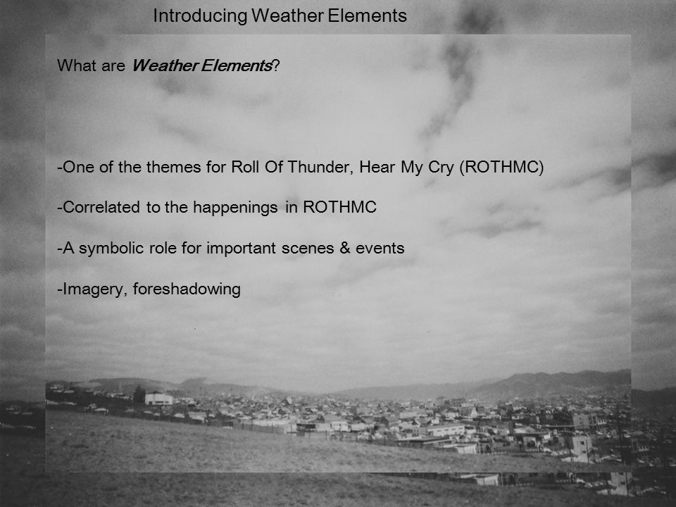 Roll Of Thunder Hear My Cry Prepared By Joern Aqilah Ppt