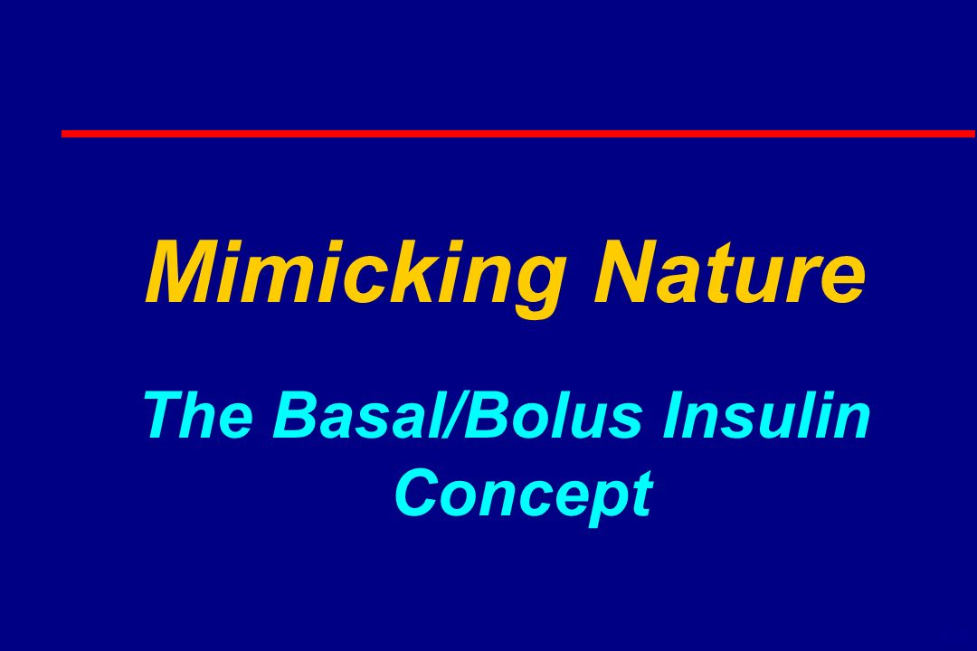 Mimicking Nature The Basal/Bolus Insulin Concept 6-16