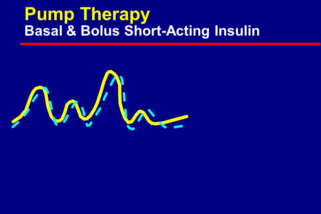 Pump Therapy Basal & Bolus Short-Acting Insulin