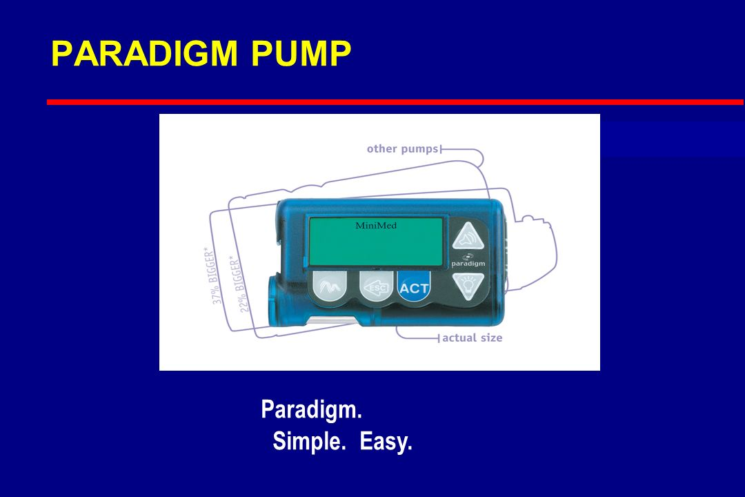 PARADIGM PUMP Paradigm. Simple. Easy.
