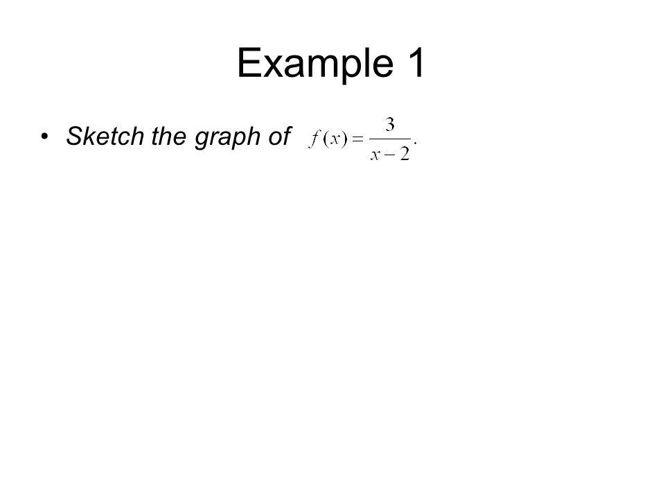 Example 1 Sketch the graph of
