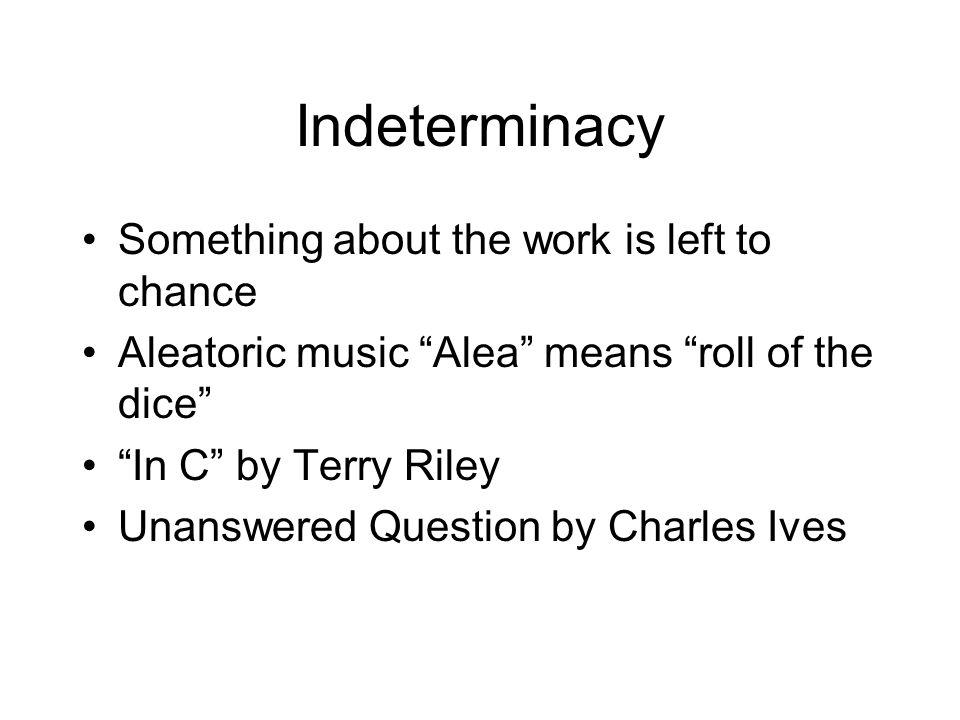 aleatoric music definition