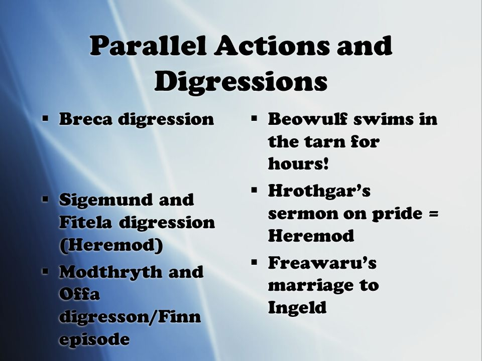digressions in beowulf
