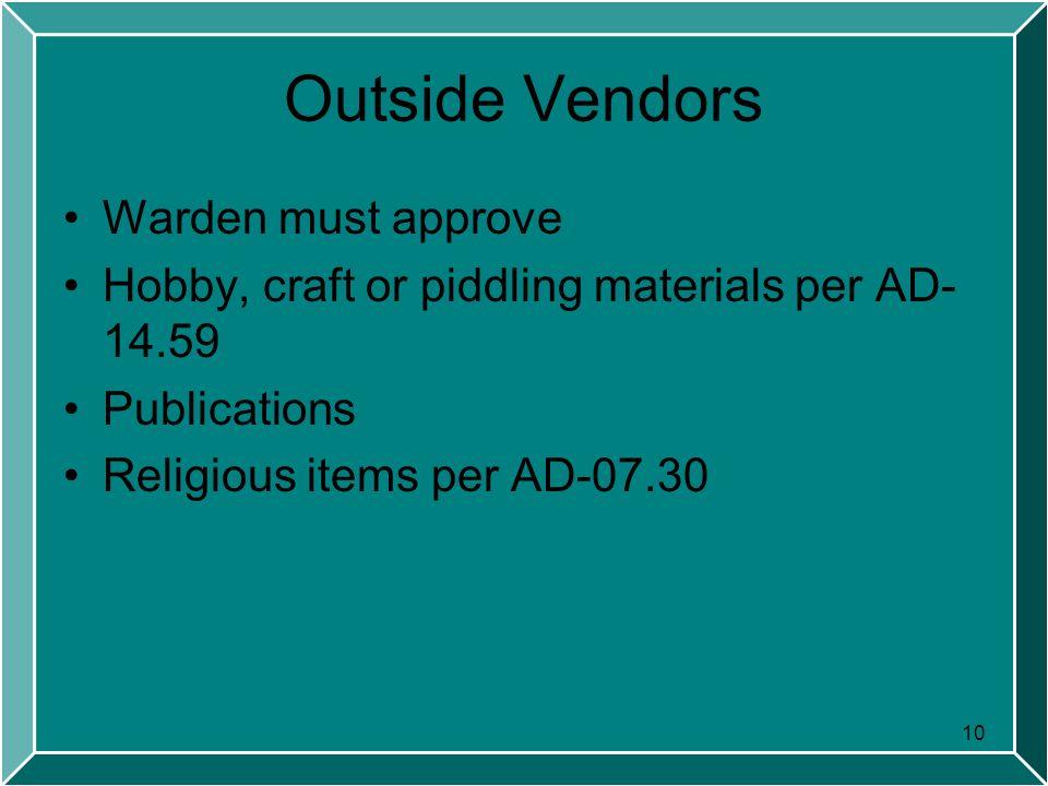 Offender Property  2 Performance Objectives 1 Define