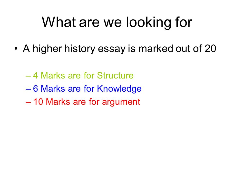how to structure a history essay