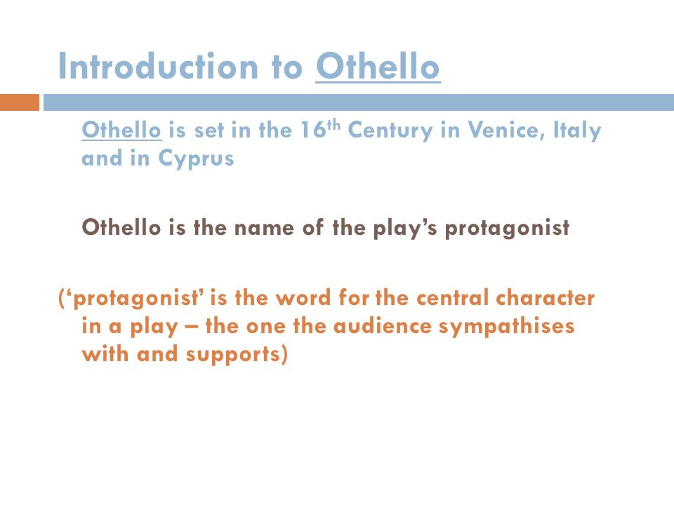 is othello a racist play