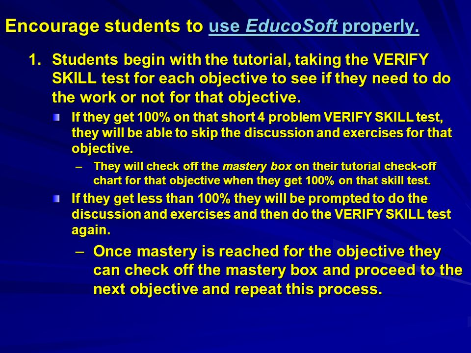 Using EducoSoft's Technology to Enhance the Learning of Math