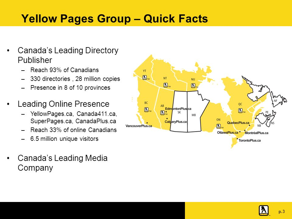 P  1 Product Innovation at Yellow Pages Group Directory