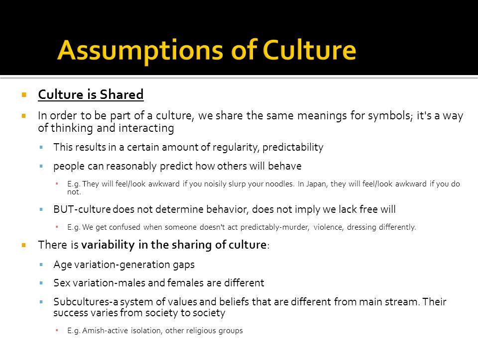 What Is Culture Principle Of Holism Assumptions Of Culture Cultural