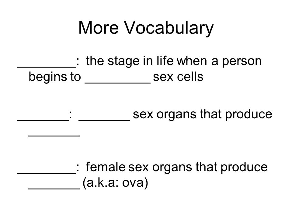 The end result of meiosis: ____ new cells that have only ______the number of chromosomes (________ number) in males- ___ sperm cells are _______ (in humans the __________ # is 23) in females- 1 ____ and 3 _____ bodies are made (the egg has 23 chromosomes)