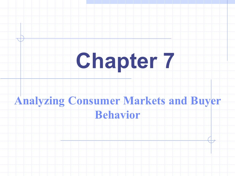 Chapter 7 Analyzing Consumer Markets And Buyer Behavior Ppt Download