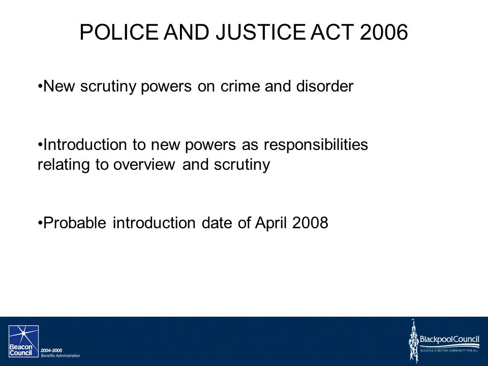 POLICE AND JUSTICE ACT 2006 PDF