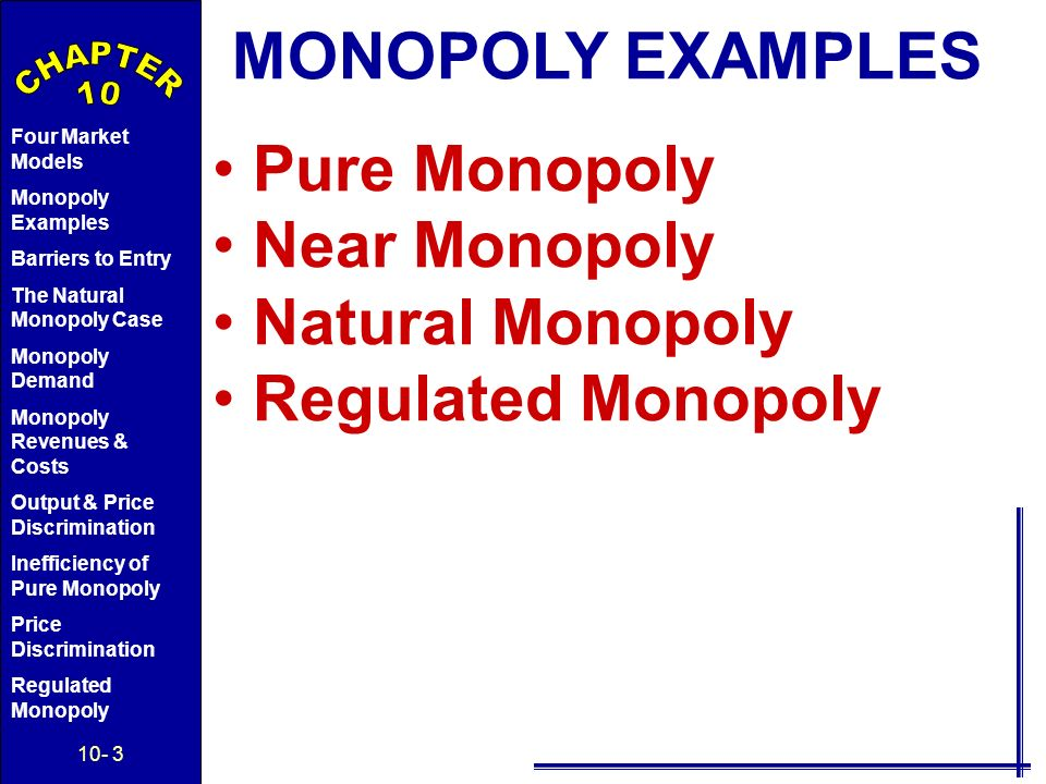 regulated monopolies essay This essay monopoly and other 64,000+ term papers, college essay examples and free definition : monopoly is defined as a circumstance in which a solitary organization claims all or about the.