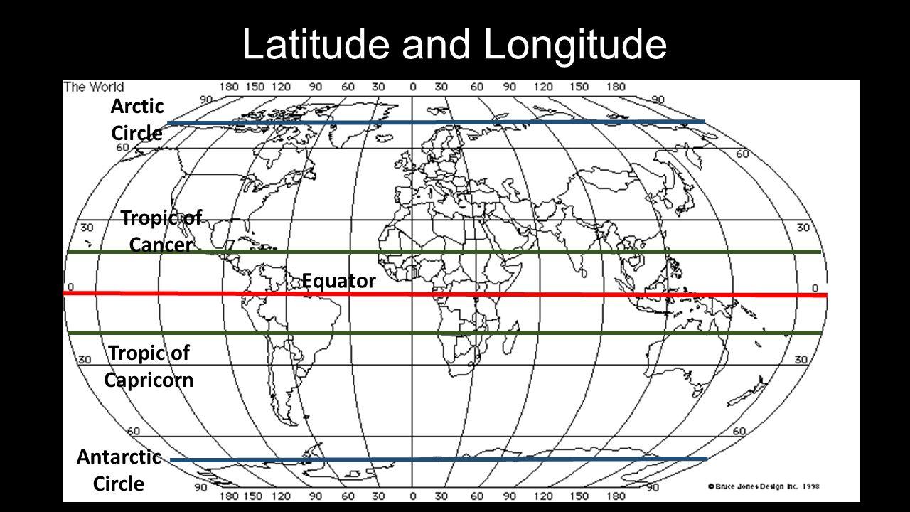 Latitude and longitude equator tropic of cancer tropic of capricorn 1 latitude and longitude equator tropic of cancer tropic of capricorn arctic circle antarctic circle gumiabroncs Images