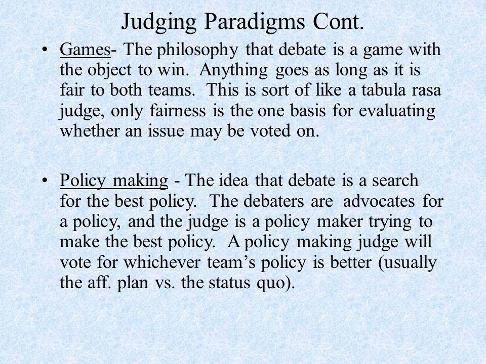 debatable policies