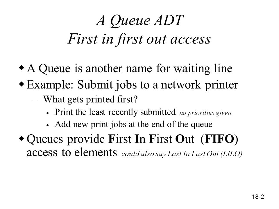 18-1 Queues Data Structures and Design with Java and JUnit
