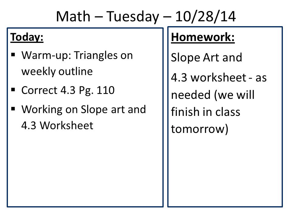 Math Monday 102714 Today Warmup Triangles On Weekly. Worksheet. Proportional Relationships Worksheet At Clickcart.co