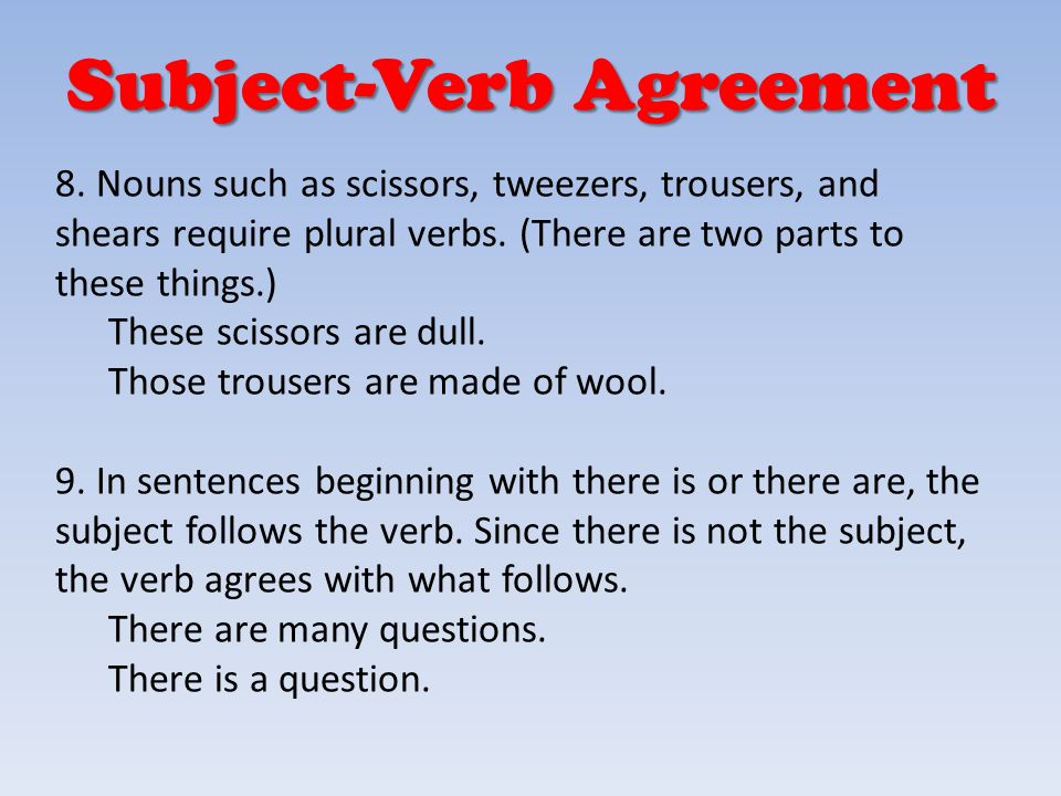 October 21 2013 Quickwrite Subject Verb Agreement Homework