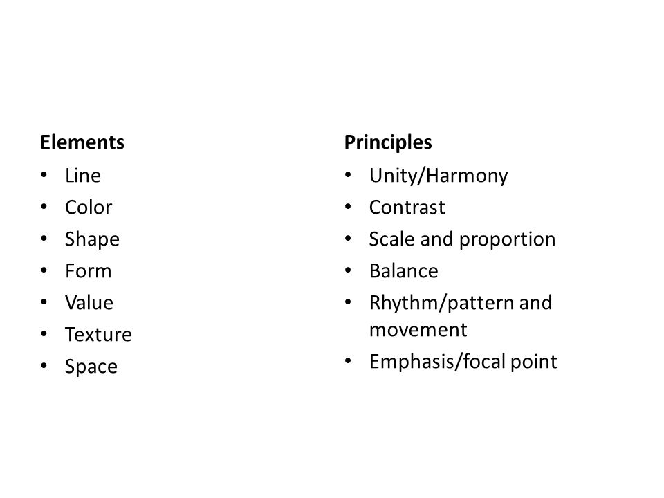 Elements And Principles Of Design What Is The Difference Between