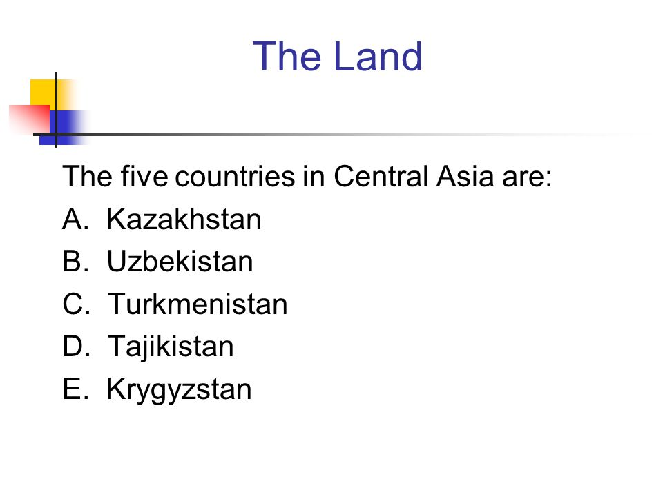 Russia and Central Asia Physical Geography  The Land Russia