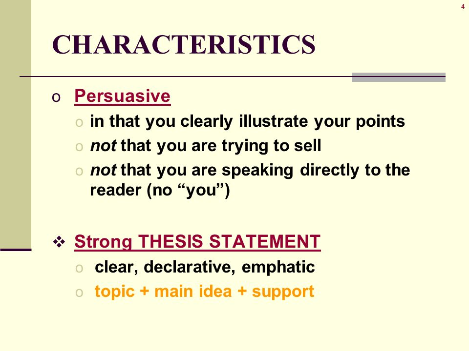 Essay About English Language   Characteristics  How To Make A Thesis Statement For An Essay also How To Make A Thesis Statement For An Essay  Illustration Example Essay  Characteristics Also Known As O  Sample Essays High School Students