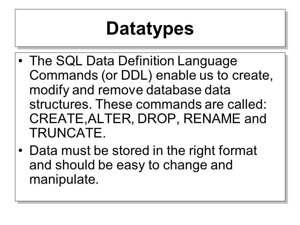 2 Datatypes ...  sc 1 st  SlidePlayer & Tables and Constraints Oracle PL/SQL. Datatypes The SQL Data ...