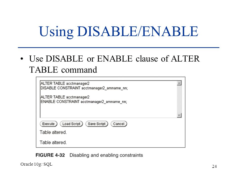 How to use default constraint in oracle 10g