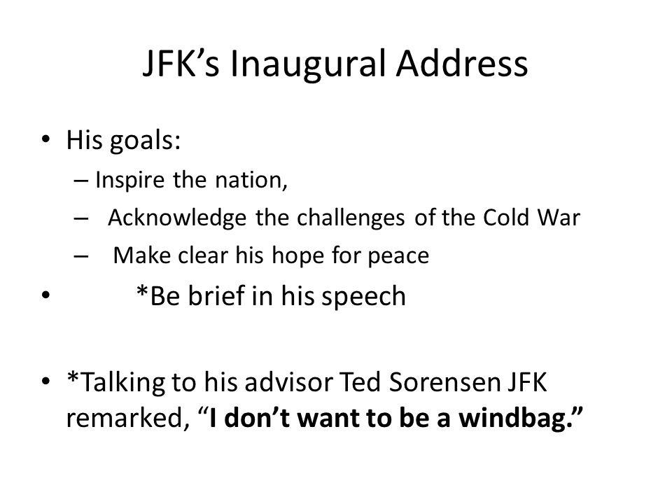 jfk inaugural address main points
