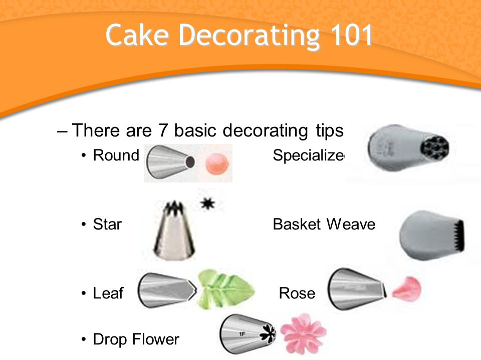 Buttercreams And Cake Decorating. Objective Compare the two types of ...